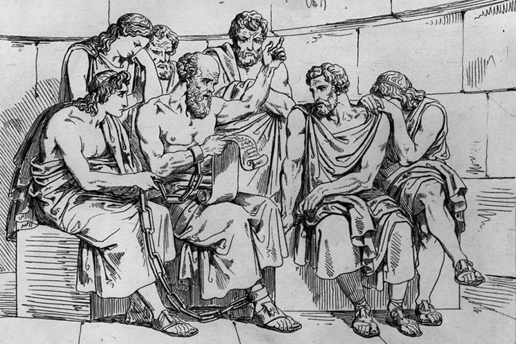 Mort de Socrate prison