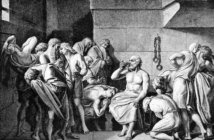 Mort de Socrate poison ciguë