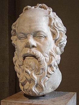 Portrait de Socrate en marbre