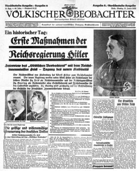 le journal Volkische Beobachter dans Mein Kampf